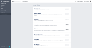 Facebook for developers : Product Setup